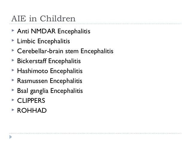 Anti NMDAR Encephalitis