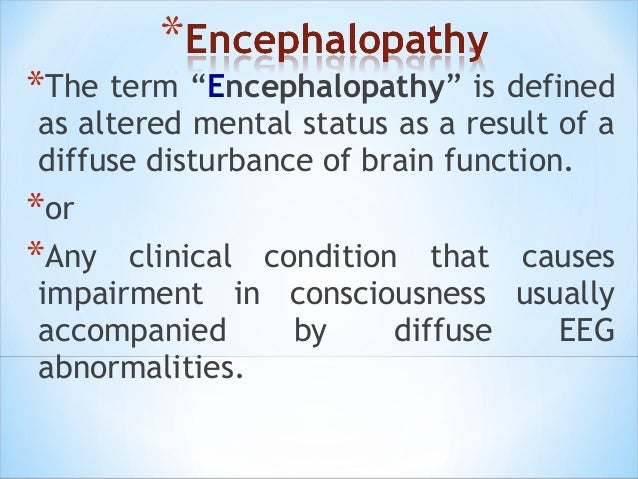 Encephalopathy with EEG based Grading Slide 2