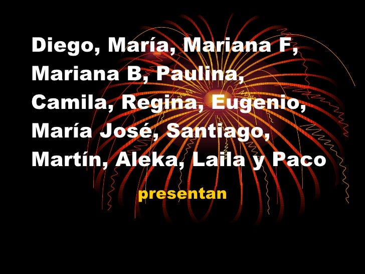 Diego, María, Mariana F, Mariana B, Paulina, Camila, Regina, Eugenio, María José, Santiago, Martín, Aleka, Laila y Paco pr...