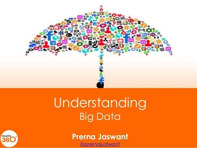 Introduction  Understanding Big Data  Prerna Jaswant @prernajustwant