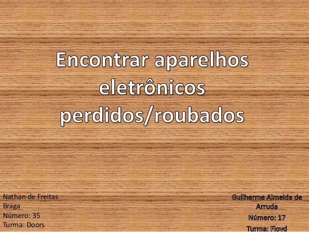 Nathan de Freitas Braga Número: 35 Turma: Doors
