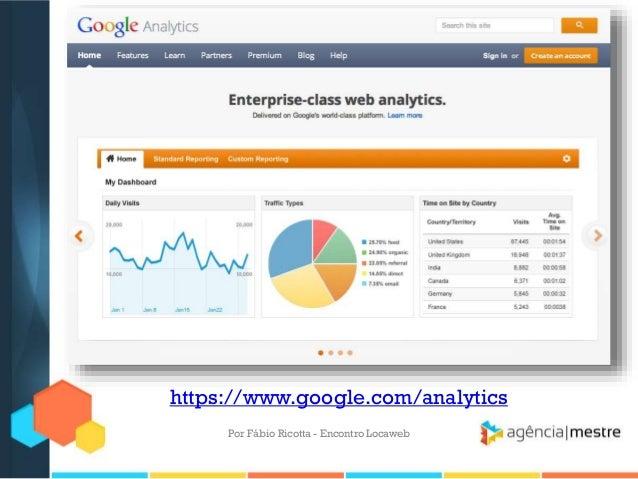 https://www.google.com/analyticsPor Fábio Ricotta - Encontro Locaweb