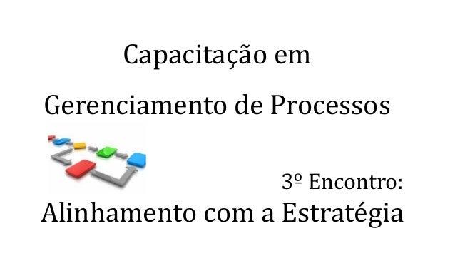 Capacitação em Gerenciamento de Processos 3º Encontro: Alinhamento com a Estratégia