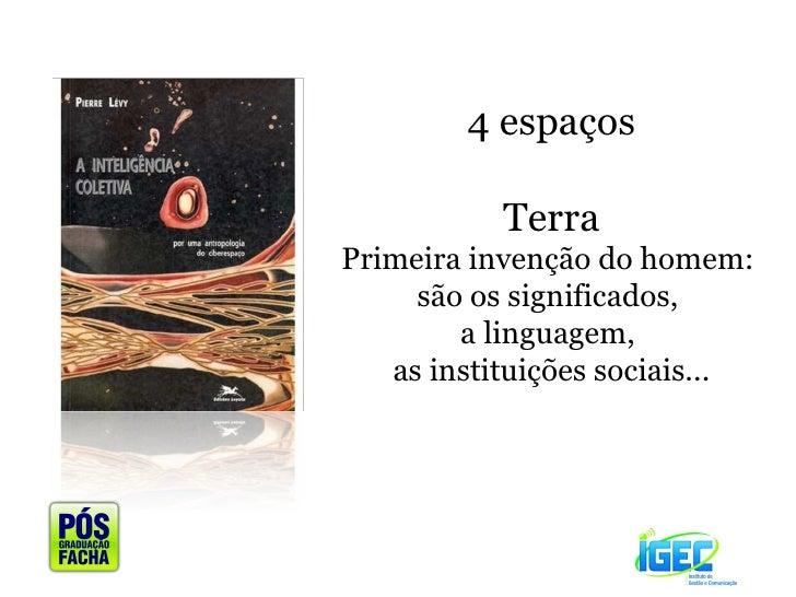 4 espaços Terra Primeira invenção do homem:  são os significados,  a linguagem,  as instituições sociais...