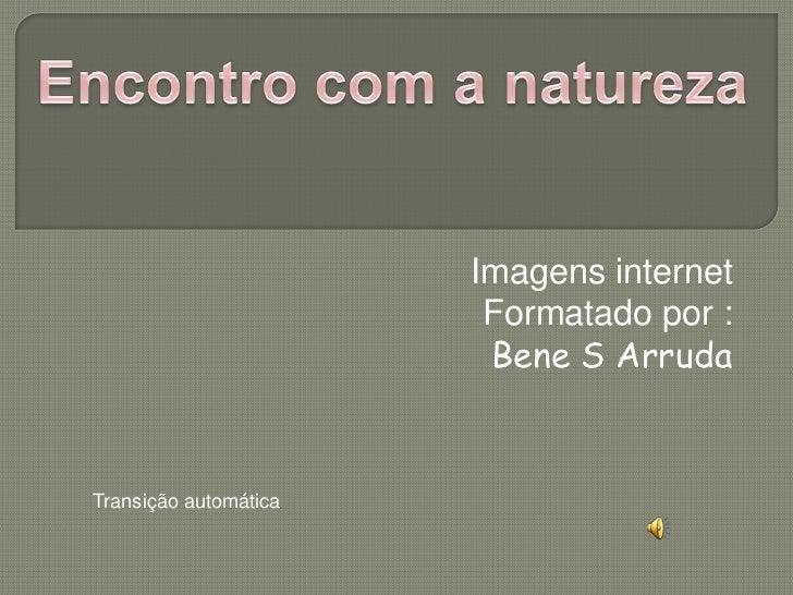 Imagens internet                        Formatado por :                        Bene S ArrudaTransição automática
