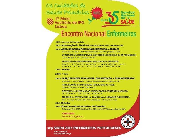 Encontro Nacional Cuidados Saúde Primário do SEP no IPO de Lisboa 17 maio 2014