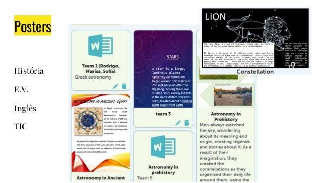Posters História E.V. Inglês TIC