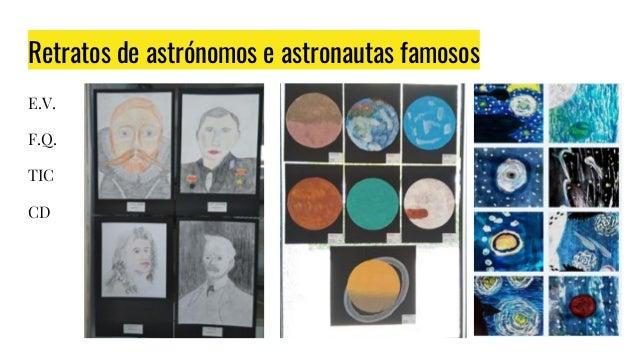 Retratos de astrónomos e astronautas famosos E.V. F.Q. TIC CD