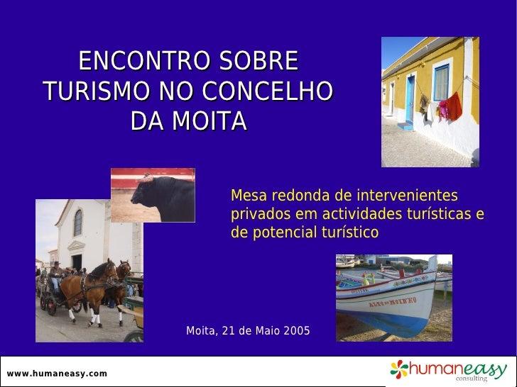 ENCONTRO SOBRE      TURISMO NO CONCELHO            DA MOITA                           Mesa redonda de intervenientes      ...