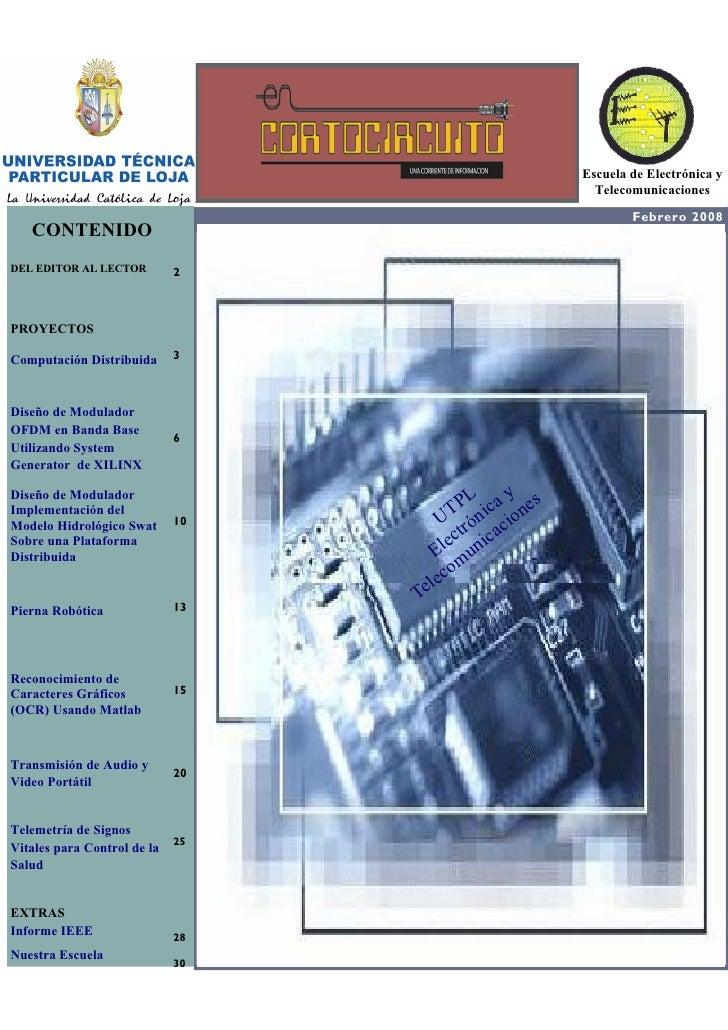 EDITORIAL                                                                        Escuela de Electrónica y                 ...