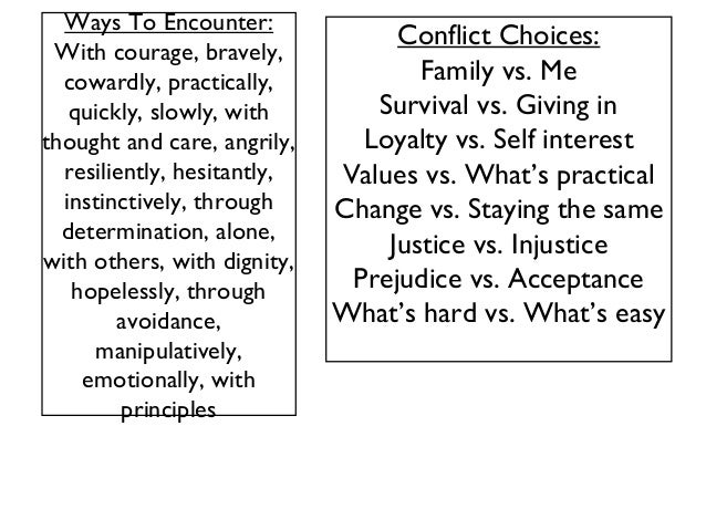 Conflict Expository (the Crucible)
