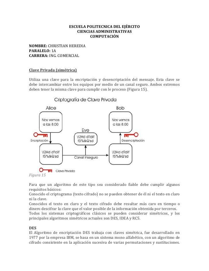 ESCUELA POLITECNICA DEL EJÉRCITO<br />CIENCIAS ADMINISTRATIVAS<br />COMPUTACIÓN<br />NOMBRE: CHRISTIAN HEREDIA<br />PARALE...