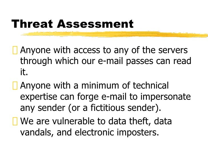 E-mail and Encryption Slide 3