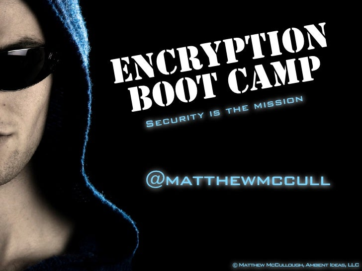 Encryption Boot Camp at JavaZone 2010