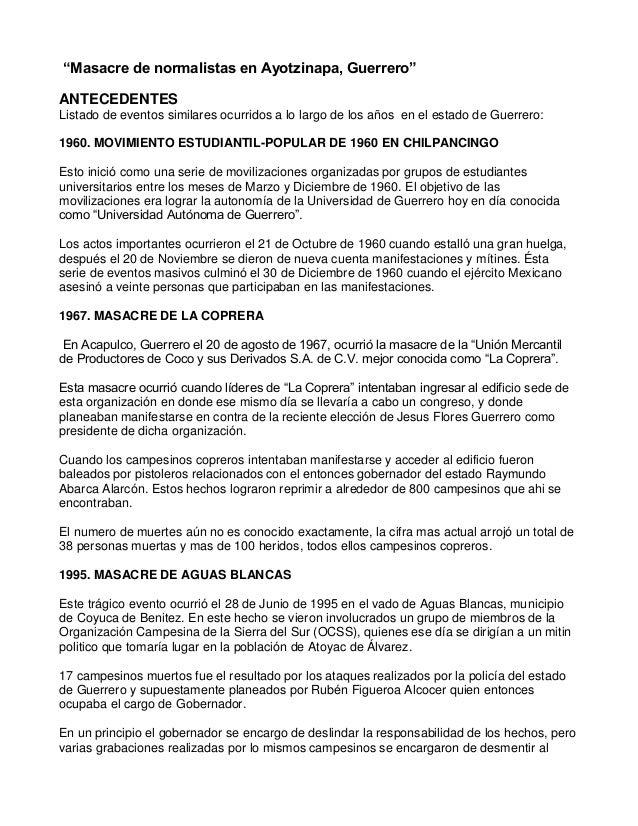 Encuadre ayotzinapa
