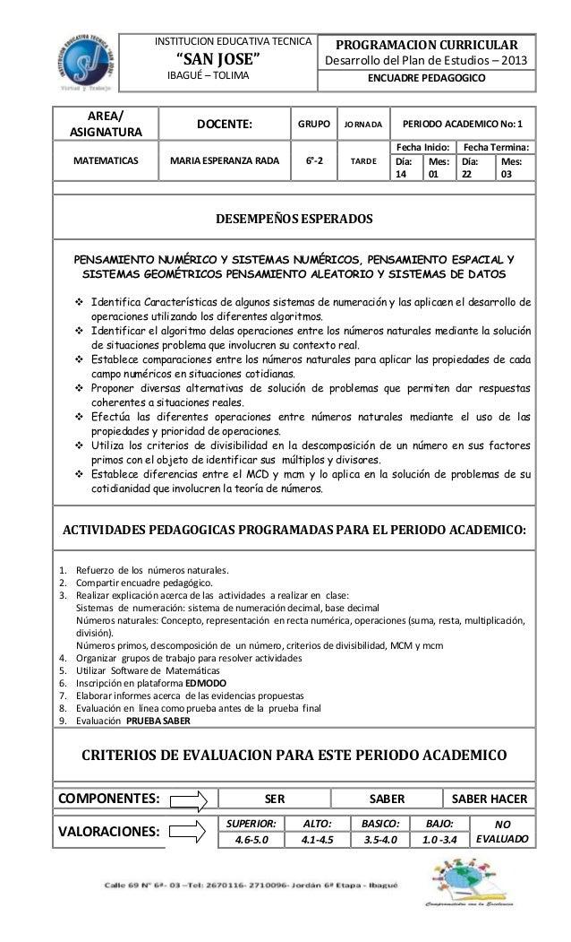 Encuadre pedagogico 2013 6-2