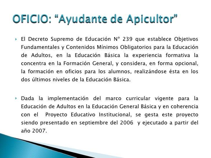 """Oficio """"Ayudante de Apicultor."""" Slide 3"""