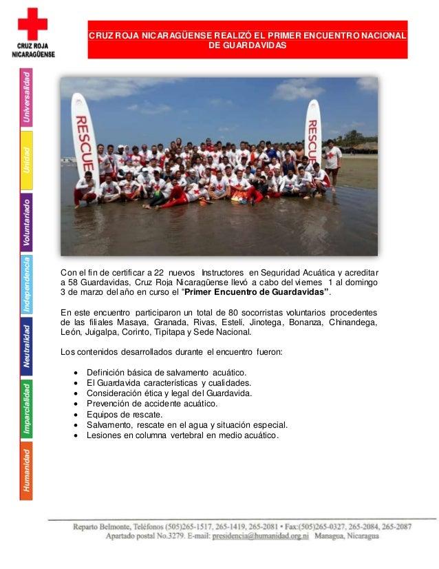 Con el fin de certificar a 22 nuevos Instructores en Seguridad Acuática y acreditar a 58 Guardavidas, Cruz Roja Nicaragüen...