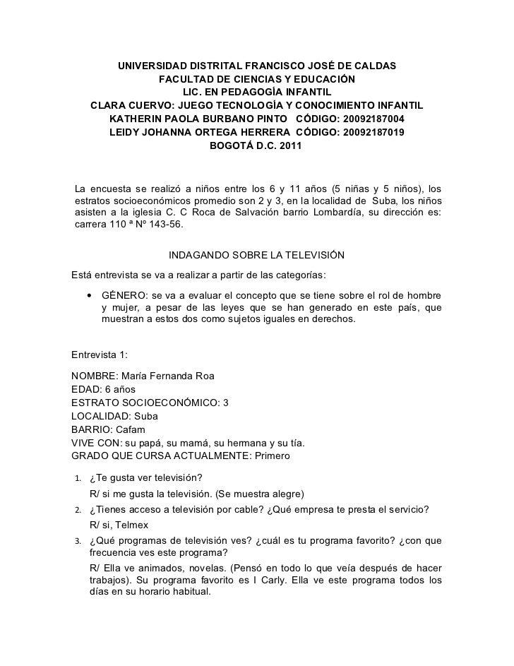 UNIVERSIDAD DISTRITAL FRANCISCO JOSÉ DE CALDAS                FACULTAD DE CIENCIAS Y EDUCACIÓN                   LIC. EN P...