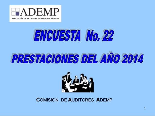 1 COMISION DE AUDITORES ADEMP