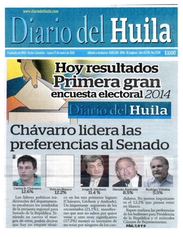 Encuesta Diario del Huila