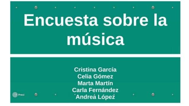 Encuesta musica