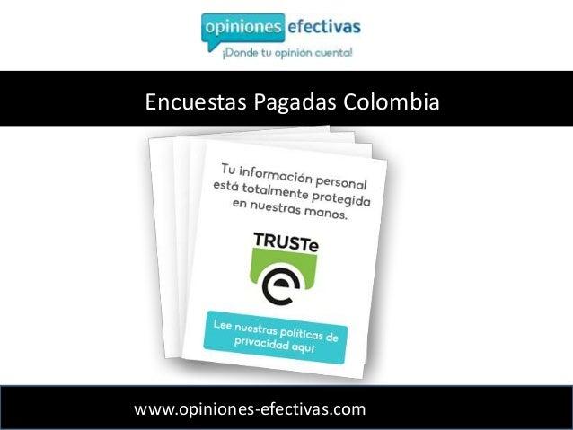 Encuestas Pagadas Colombia Opiniones Efectivas