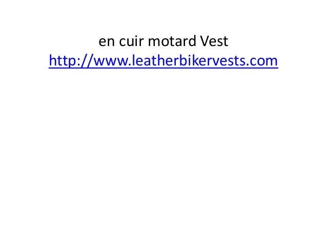 en cuir motard Vest http://www.leatherbikervests.com