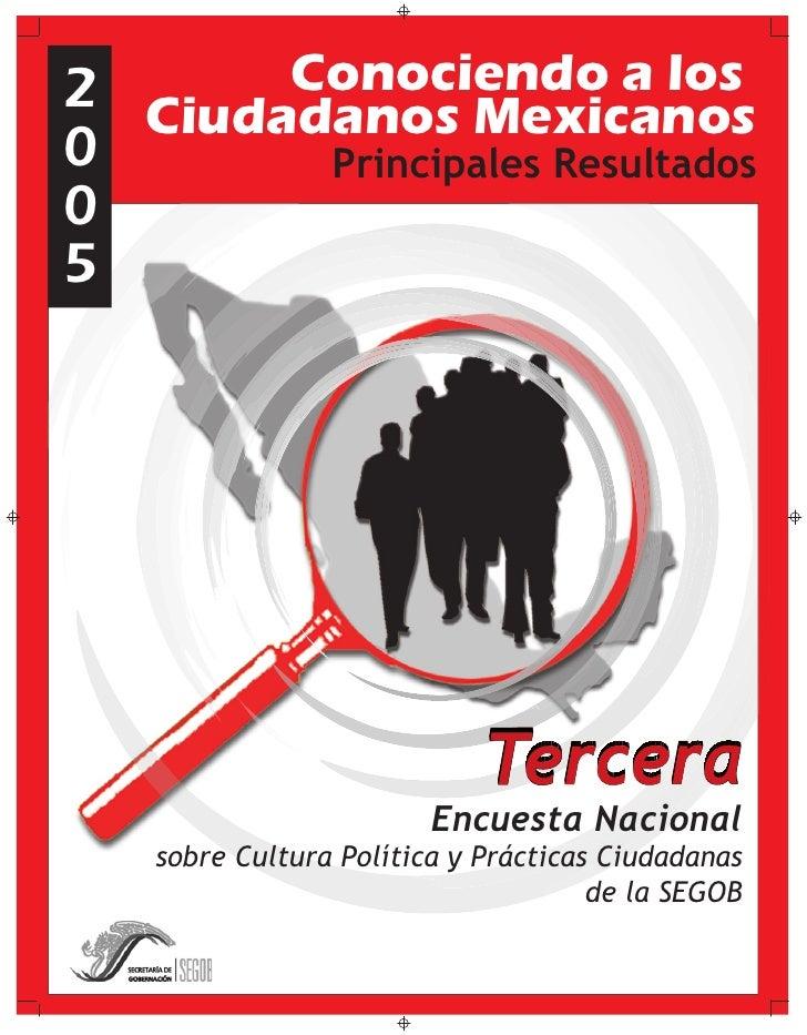 Conociendo a los 2 Ciudadanos Mexicanos 0                  Principales Resultados 0 5     Encuesta Nacional          Encue...