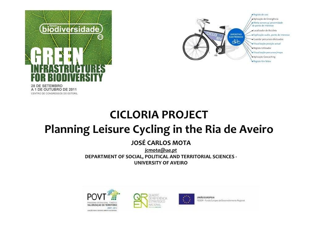 CICLORIA PROJECTPlanning Leisure Cycling in the Ria de Aveiro                        JOSÉ CARLOS MOTA                     ...