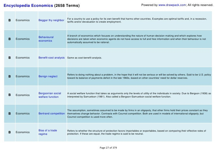 economics terms and definitions The national library of medicine's glossary of terms commonly used in health care 2004 edition glossary of terms used in health economics.