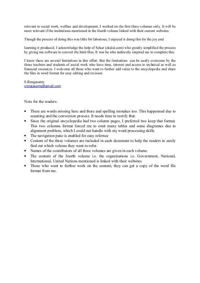 encyclopedia of social work volume 3 pdf