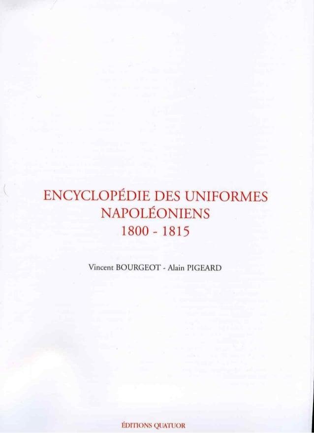 Encyclopedie des uniformes napoleoniens