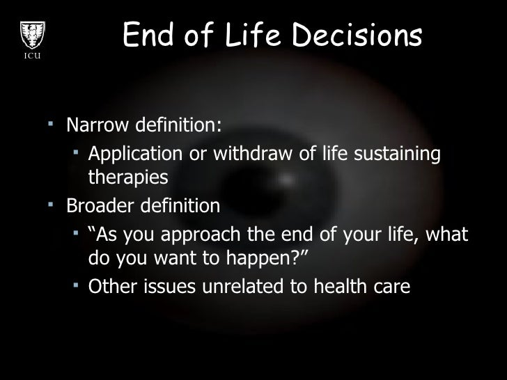 end of life choices The following article is an overview of the federal and state laws dealing with end of life decision making federal patient self determination act 1990 – 42 u.