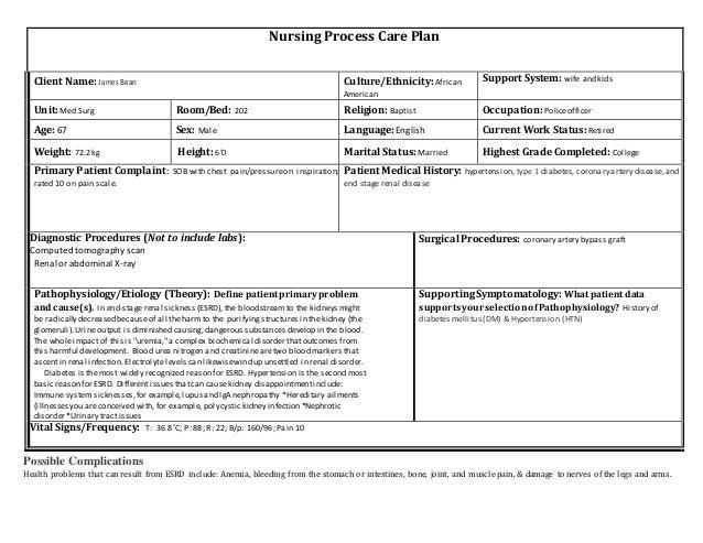 End Stage Renal Sickness Esrd Nursing Care Plan