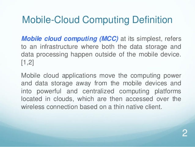 mobile computing conclusion Mobile computing1 presentation outline what is mobile computing comparison to wired networks why go mobile types of wireless devi.