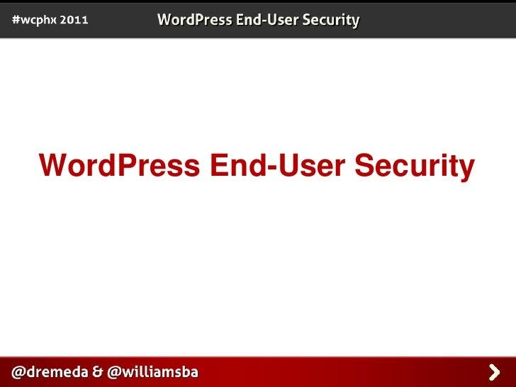 WordPress End-User Security<br />