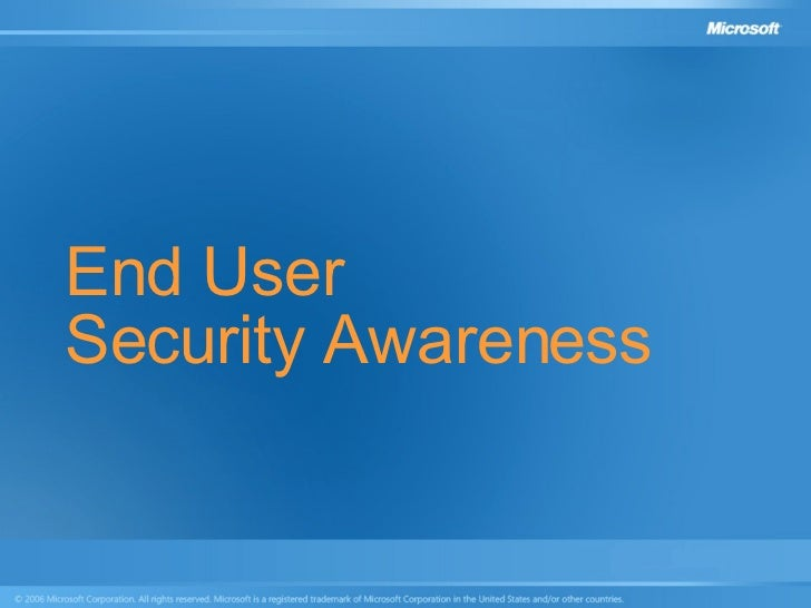End User Security Awareness
