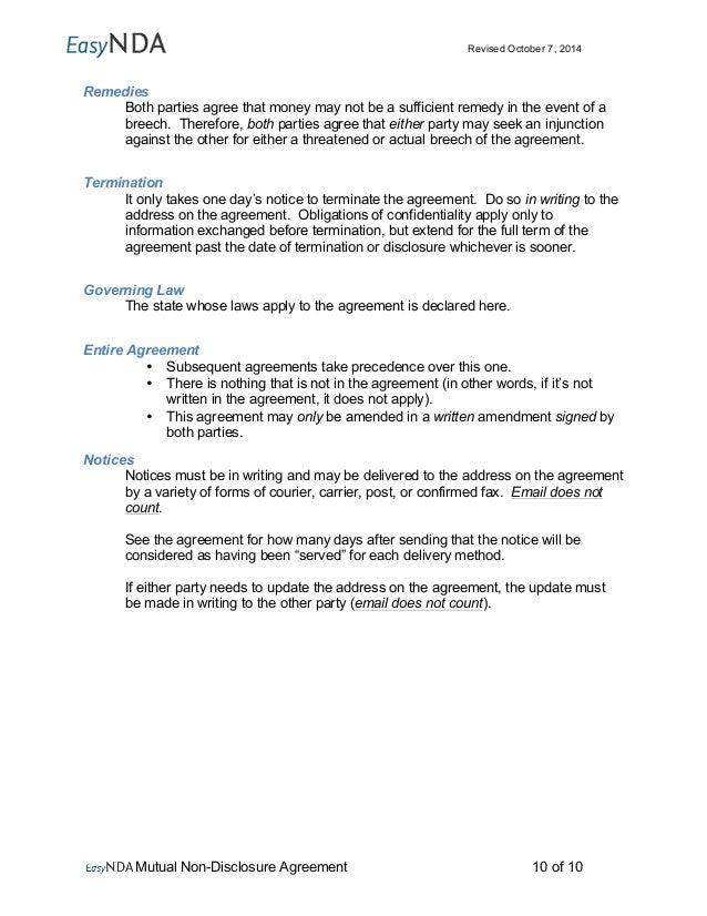 Easynda Mutual Non Disclosure Agreement Printable V1