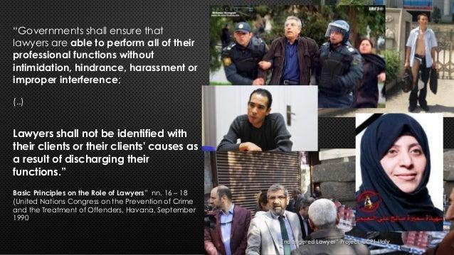 """Avvocati minacciati - Endangered lawyers"" Slide 3"