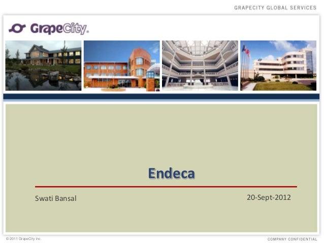 Endeca                 Swati Bansal            20-Sept-2012© 2011 GrapeCity inc.