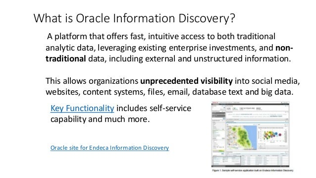 Oracle Endeca 101 Developer Introduction High Level Overview