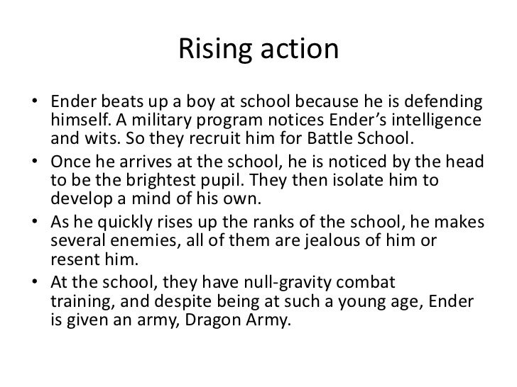 summary of enders game Ender's game by orson scott card chapter 1 -- third i've watched through  his eyes, i've listened through his ears, and tell you he's the one or at least as.