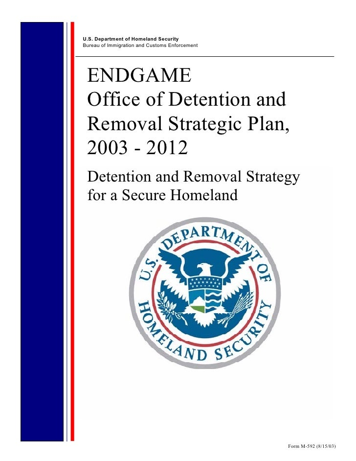 U.S. Department of Homeland SecurityBureau of Immigration and Customs Enforcement ENDGAME Office of Detention and Removal ...