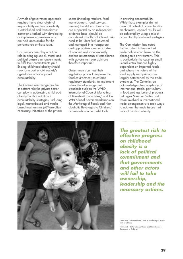 scope and nature of childhood obesity Read chapter summary: the remarkable increase in the prevalence of obesity among children and youth in the united states over a relatively short timespan.