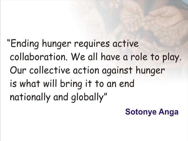 Ending hunger by  sotonye  anga