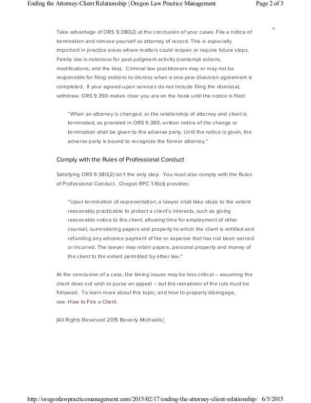 Attorney Client Termination Letter Erkalnathandedecker