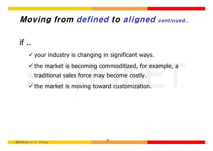 ending the war between sales and marketing marketing essay The five main differences between a sales and market orientation the end result of an effective marketing orientation strategy is customer papers, and.