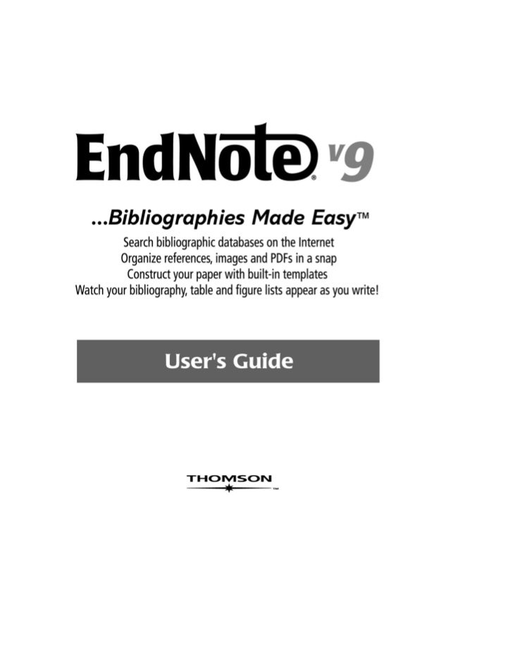 EndNote®Windows Version 9COPYRIGHT© 1988-2005 Thomson ResearchSoft, all rights reserved worldwide. No part of thispublicat...