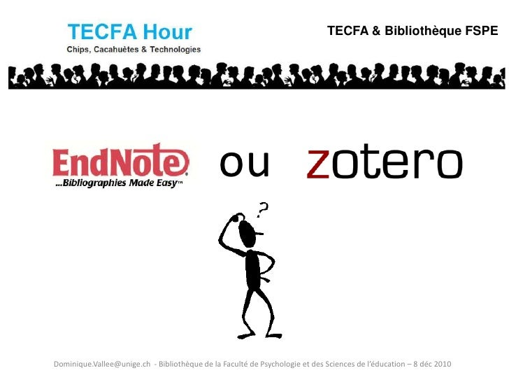 TECFA & Bibliothèque FSPE                                              ouDominique.Vallee@unige.ch - Bibliothèque de la Fa...